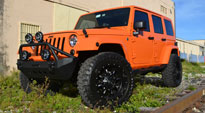 Jeep Wrangler with Fuel Deep Lip Wheels Krank - D517