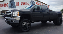 Full Blown Dually Front - D254 on Chevrolet Silverado 3500 HD