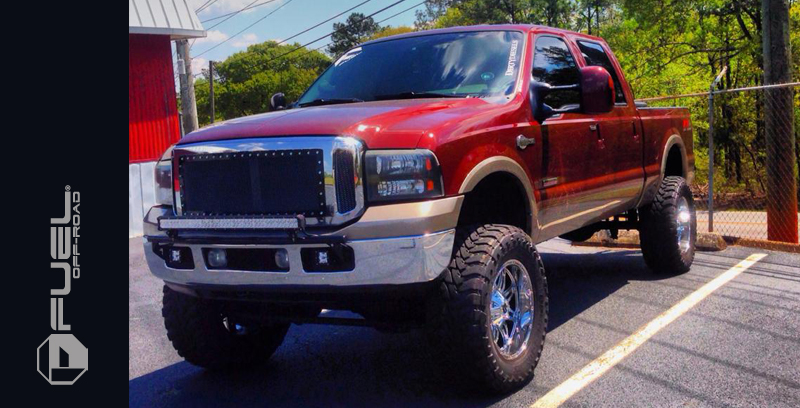 Ford F-250 Super Duty with Fuel 1-Piece Wheels