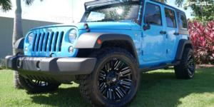 Jeep Wrangler with Fuel 1-Piece Wheels Schism - D649