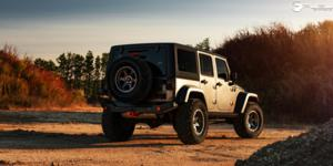 Jeep Wrangler with Fuel 1-Piece Wheels Shok - D665