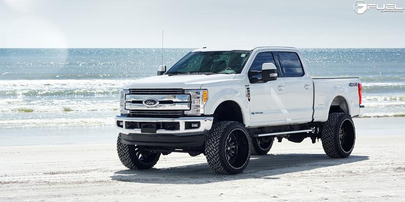 Ford F-250 Super Duty with Fuel 1-Piece Wheels Sledge - D595