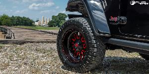 Jeep Wrangler with Fuel 1-Piece Wheels Stroke - D612
