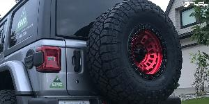 Jeep Wrangler with Fuel 1-Piece Wheels Zephyr - D632
