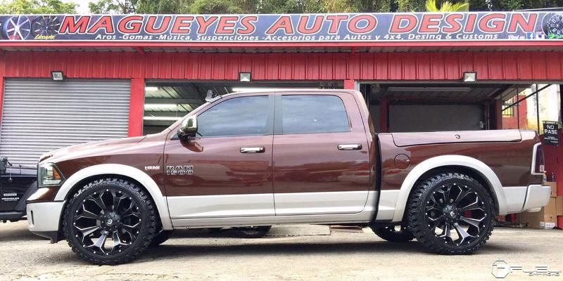 Dodge Ram 1500 with Fuel 1-Piece Wheels Assault - D546