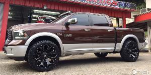 Dodge Ram 1500 with Fuel 1-Piece Wheels Assault - D546