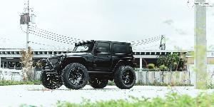 Jeep Wrangler with Fuel 2-Piece Wheels Cleaver - D239