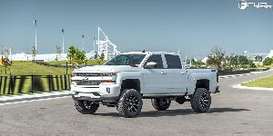 Chevrolet Silverado with Fuel 1-Piece Wheels Contra - D615