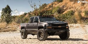 Chevrolet Silverado with Fuel 1-Piece Wheels Podium - D617