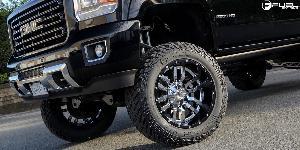GMC Sierra with Fuel 2-Piece Wheels Sledge - D270