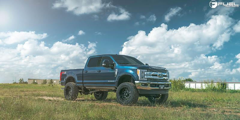 Ford F-250 Super Duty with Fuel 1-Piece Wheels Stroke - D611