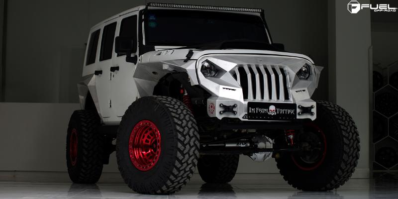 Jeep Wrangler with Fuel 1-Piece Wheels Zephyr Beadlock - D100