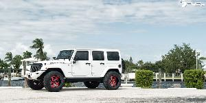 Jeep Wrangler with Fuel Forged Wheels