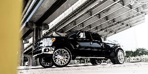 Ford F-350 Super Duty with Fuel Dually Wheels FF19D - Front