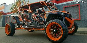 ATV - Polaris RZR 1000 with Fuel UTV Wheels FF19 - UTV