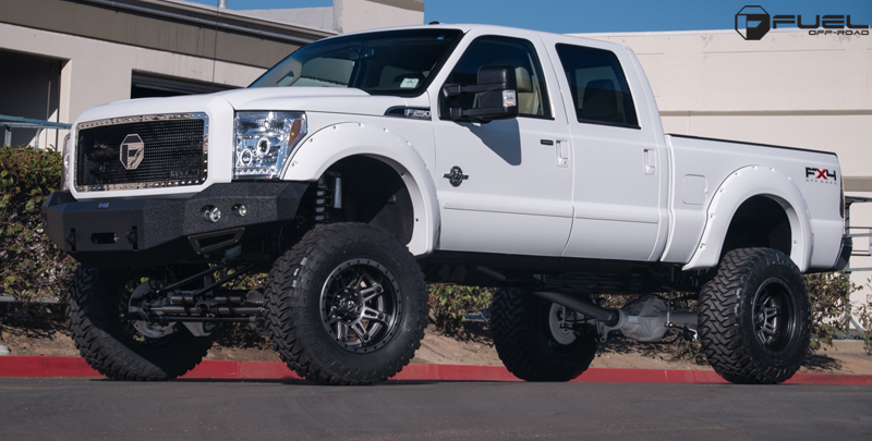 Ford F-350 with Fuel 2-Piece Wheels Hostage II - D232