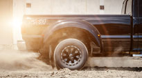 Ford F-350 Dually with Fuel Dually Wheels Throttle Dually Front - D513