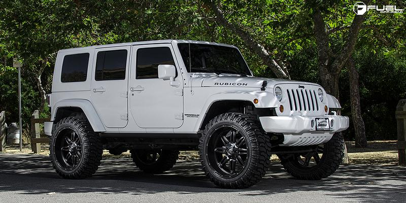 Jeep Rubicon with Fuel 1-Piece Wheels Hostage - D531
