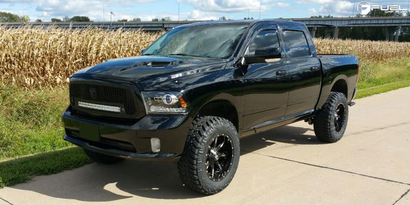 Dodge Ram 1500 with Fuel 2-Piece Wheels Nutz - D251