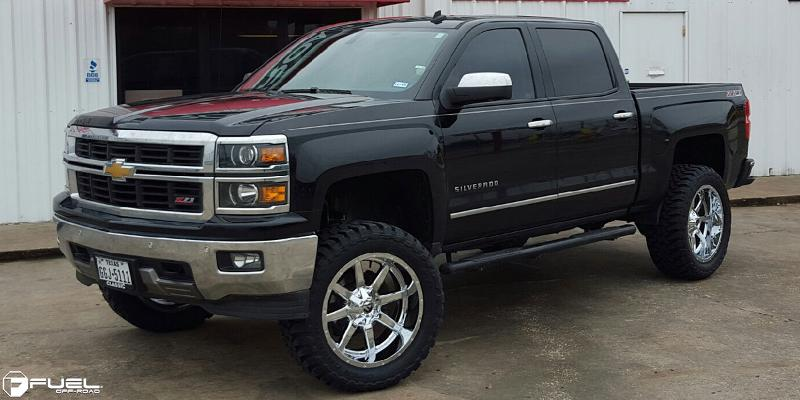 Chevrolet Silverado 1500 with Fuel Deep Lip Wheels Maverick - D536