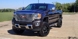 GMC Denali HD with Fuel 1-Piece Wheels Lethal - D567