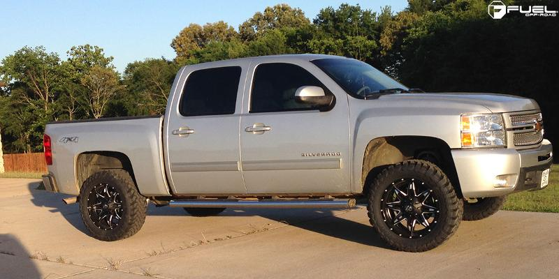 Chevrolet Silverado 1500 HD with Fuel 1-Piece Wheels Lethal - D567