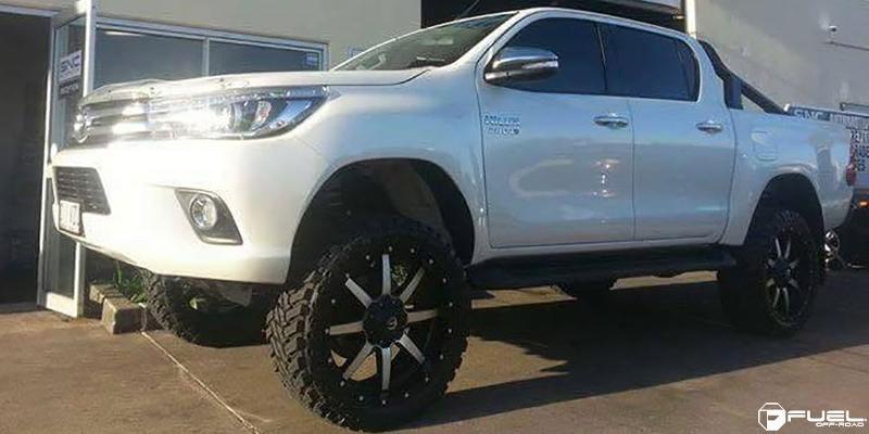 Toyota Hilux with Fuel Deep Lip Wheels Maverick - D537