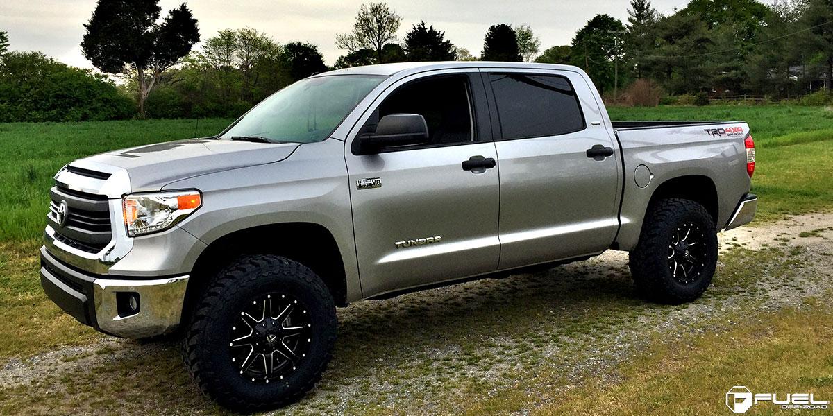 Grey Lifted Tundra >> Toyota Tundra Maverick - D538 Gallery - Fuel Off-Road Wheels