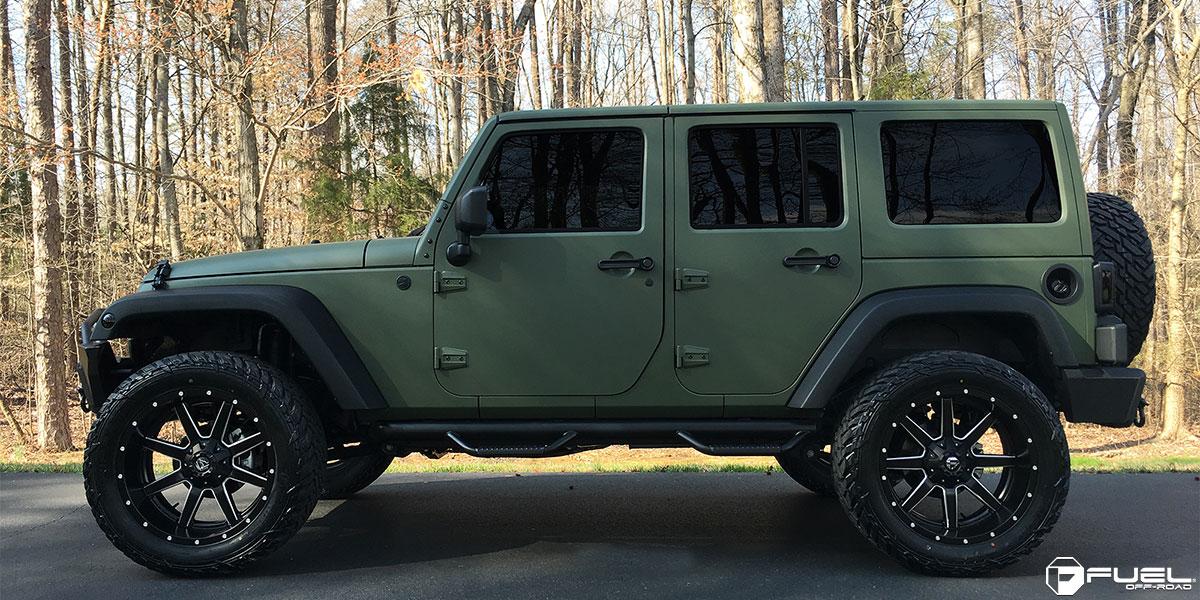 Jeep Wrangler Black Wheels