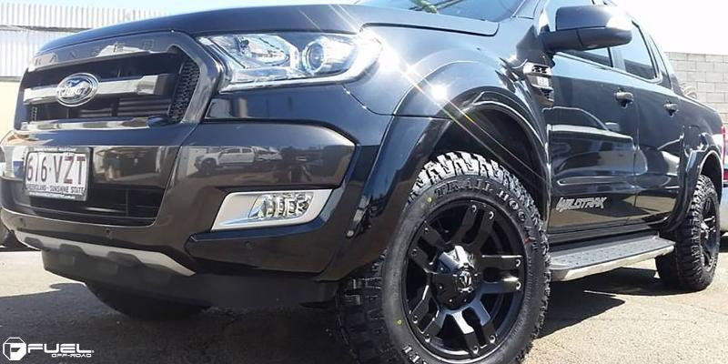 Ford Ranger with Fuel 1-Piece Wheels Pump - D515