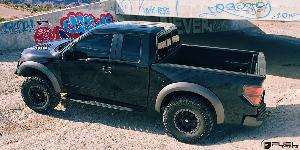 Ford F-150 Raptor with Fuel 1-Piece Wheels Trophy - D551