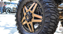 Ford F-350 Dually with Fuel Dually Wheels Full Blown Dually Rear - D254