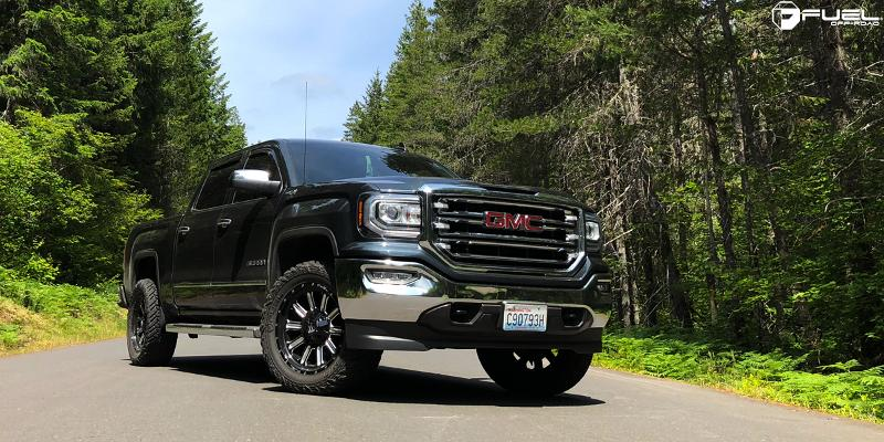 GMC Sierra 1500 with Fuel 1-Piece Wheels Hardline - D620