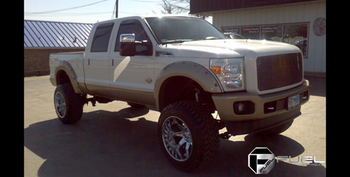 2011 Ford F-250 Super Duty with Fuel Deep Lip Wheels Octane - D508