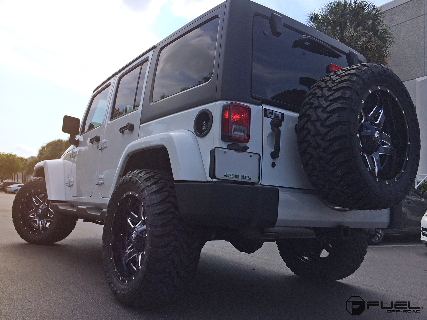 Jeep Rubicon Full Blown D554 Gallery Fuel Off Road Wheels Wrangler With 1 Piece