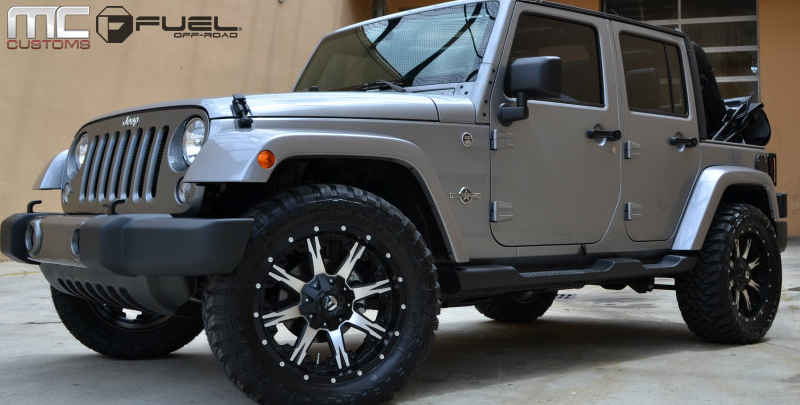 Jeep Wrangler with Fuel 1-Piece Wheels Nutz - D541