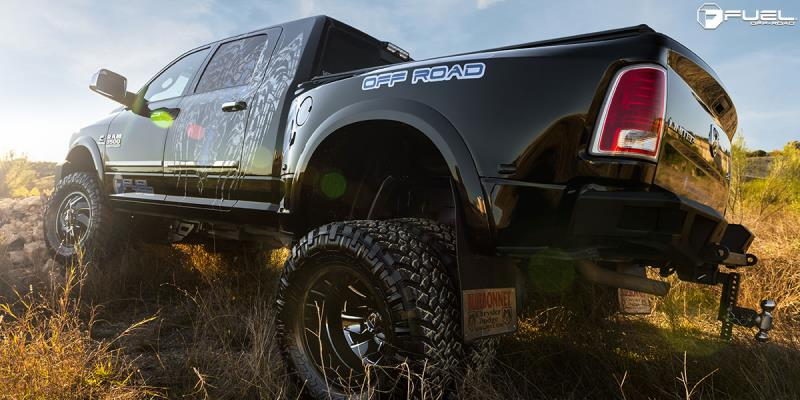 Dodge Ram 3500 with Fuel Dually Wheels
