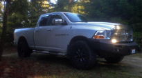 Dodge Ram 1500 with Fuel 1-Piece Wheels Throttle - D513
