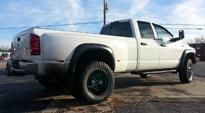 Dodge Ram 3500 with Fuel Dually Wheels Maverick Dually Rear - D538