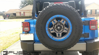 Jeep Wrangler with Fuel 1-Piece Wheels Anza - D558