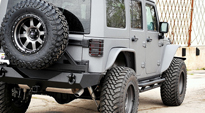Jeep Wrangler with Fuel 1-Piece Wheels Trophy - D552