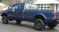 Ford F-350 with Fuel 1-Piece Wheels Throttle - D513