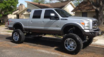 Ford F-350 with Fuel Deep Lip Wheels Hostage - D530