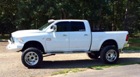 Dodge Ram 2500 with Fuel 1-Piece Wheels