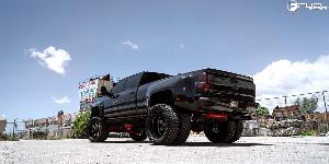 Chevrolet Silverado with Fuel 1-Piece Wheels
