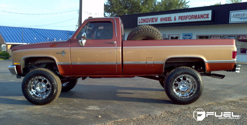 Chevrolet Silverado 2500 with Fuel 1-Piece Wheels Krank - D516