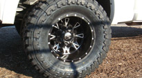 Dodge Ram 3500 Dual Rear wheel with Fuel Dually Wheels Throttle Dually Front - D213