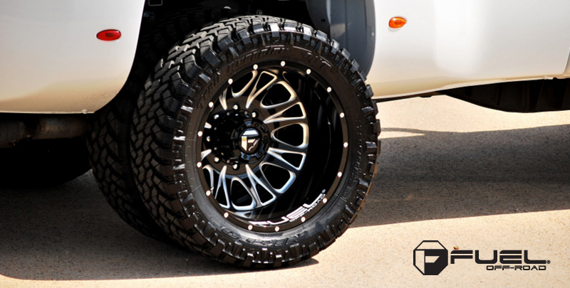 How To Tire Size >> GMC 3500 Throttle Dually - D213 Gallery - Fuel Off-Road Wheels