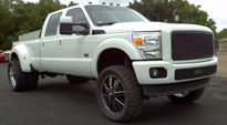 Ford F-350 with Fuel Dually Wheels Maverick Dually - D262