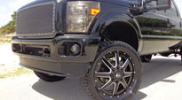 Ford F-350 with Fuel Dually Wheels Maverick Dually Front - D262